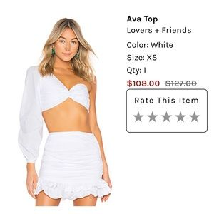 Lovers + Friends Tops - Ava Top - Lovers & Friends - White/XS - Brand New!